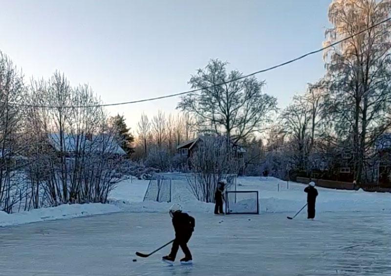 Hockeyplanen i Sätra Insjön